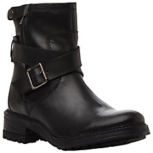 Buy Bertie Peabody Leather Strap Ankle Boots, Black Online at johnlewis.com