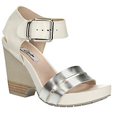 Buy Clarks Rosalie Pose Wedge Sandals, White Online at johnlewis.com