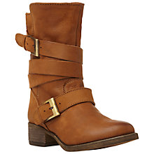 Buy Steve Madden Brewser Calf Boots, Brown Online at johnlewis.com