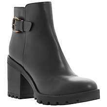 Buy Dune Black Playton Side Buckle Detail Leather Ankle Boots, Black Online at johnlewis.com