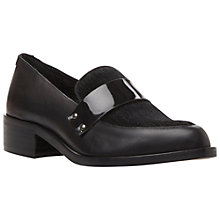 Buy Bertie Lannister Leather Pointed Toe Penny Loafers, Black Online at johnlewis.com