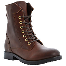 Buy Bertie Puggle Leather Lace Up Ankle Boots Online at johnlewis.com