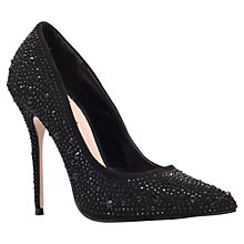 Buy Carvela Gemini Embellished High Heeled Courts, Black Online at johnlewis.com