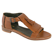 Buy Barbour Tyne Leather Sandals, Tan Online at johnlewis.com