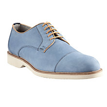 Buy Kin by John Lewis Harry Toe Cap Leather Derby Shoes, Blue Online at johnlewis.com