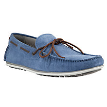 Buy Kin by John Lewis Suede Loafers, Blue Online at johnlewis.com