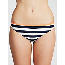Buy Ted Baker Mossley Bikini Briefs, Navy White Online at johnlewis.com