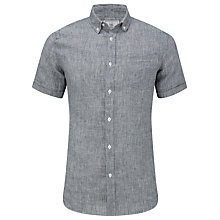Buy John Lewis Self Stripe Short Sleeve Linen Shirt Online at johnlewis.com