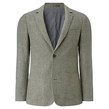 Buy JOHN LEWIS & Co. Abraham Moon Wool Deconstructed Blazer, Natural Online at johnlewis.com