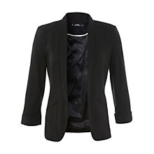 Buy Miss Selfridge Petite Jersey Blazer, Black Online at johnlewis.com