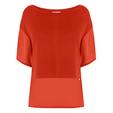 Buy Wishbone Delphine Top, Orange Online at johnlewis.com