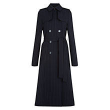 Buy Hobbs Angelina Trench Coat, Navy Ivory Online at johnlewis.com