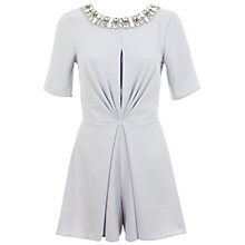 Buy Miss Selfridge Embellished Playsuit, Pale Blue Online at johnlewis.com