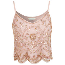 Buy Miss Selfridge Scallop Hem Crop Cami, Nude Online at johnlewis.com