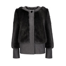 Buy Ted Baker Farika Faux Fur Coat, Silver Online at johnlewis.com