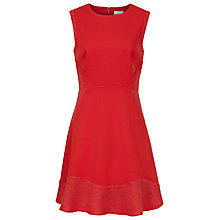 Buy Reiss Toluca Textured Fit and Flare Dress Online at johnlewis.com