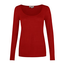 Buy Hobbs Remi Jumper, Pillarbox Red Online at johnlewis.com