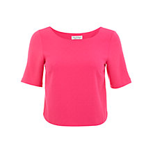 Buy Miss Selfridge Wrap Back Top, Pink Online at johnlewis.com