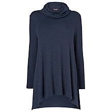 Buy Phase Eight Nora Roll Neck Top, Navy Online at johnlewis.com