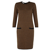 Buy Hobbs Maddie Dress, Black Camel Online at johnlewis.com