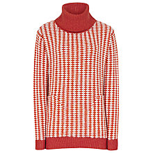 Buy Reiss Amie Two-tone Jumper, Red/cream Online at johnlewis.com