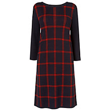 Buy Phase Eight Cara Check Dress, Navy/Red Online at johnlewis.com