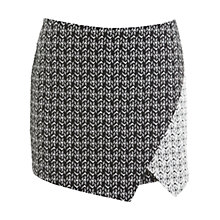 Buy Miss Selfridge Mono Graphic Skort, Assorted Online at johnlewis.com