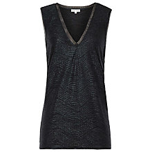 Buy Reiss Ona Vest, Black/Metallic Online at johnlewis.com