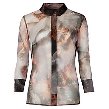 Buy Ted Baker Blooms of Enchantment Shirt, Black Online at johnlewis.com