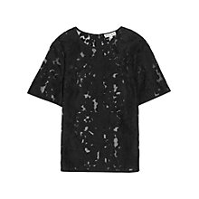 Buy Reiss Orinoco Semi-sheer Embroidered Top Online at johnlewis.com