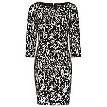 Buy Reiss Jacques Dress, Black/White Online at johnlewis.com