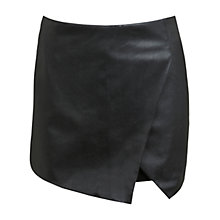 Buy Miss Selfridge Faux Leather Ponte Skort, Black Online at johnlewis.com
