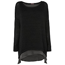Buy Phase Eight Danni Double Layer Jumper, Black Online at johnlewis.com