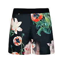 Buy Ted Baker Carmoni Opulent Bloom Print Shorts, Black Online at johnlewis.com