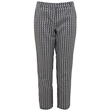 Buy Miss Selfridge Graphic Jacquard Trousers, Black Online at johnlewis.com