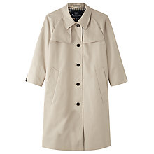 Buy Aquascutum Florence Cotton Trench Coat, Light Beige Online at johnlewis.com