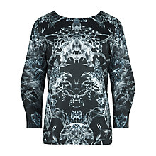 Buy Ted Baker Print Sweatshirt, Black Online at johnlewis.com