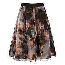 Buy Ted Baker Blooms of Enchantment Skirt, Black Online at johnlewis.com