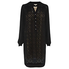 Buy Wishbone Orli Broderie Tunic Dress, Black Online at johnlewis.com