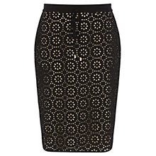 Buy Wishbone Broderie Skirt, Black Online at johnlewis.com