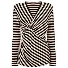 Buy Phase Eight Ellie Stripe Top, Black/Camel Online at johnlewis.com