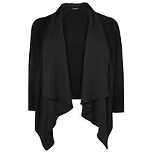 Buy Phase Eight Codie Waterfall Cardigan, Black Online at johnlewis.com
