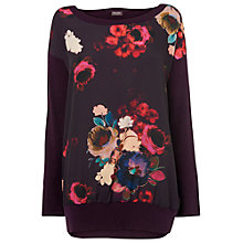 Buy Phase Eight Maisie Print Jumper, Blackberry Online at johnlewis.com