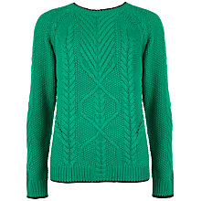 Buy Ted Baker Cable Knitted Jumper, Green Online at johnlewis.com