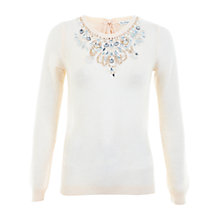 Buy Miss Selfridge Embellished Tie Back Jumper, Multi Online at johnlewis.com