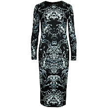 Buy Ted Baker Printed Midi Dress, Black Online at johnlewis.com