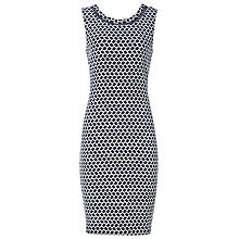 Buy Reiss Alberto Structured Shift Dress, Blue Passion Online at johnlewis.com