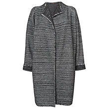 Buy Phase Eight Cecilia Collarless Coat, Black/Ivory Online at johnlewis.com