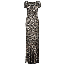 Buy Phase Eight Collection 8 Ramona Lace Beaded Full Length Dress, Black/Nude Online at johnlewis.com