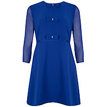 Buy Ted Baker Bow Detail Dress, Bright Blue Online at johnlewis.com